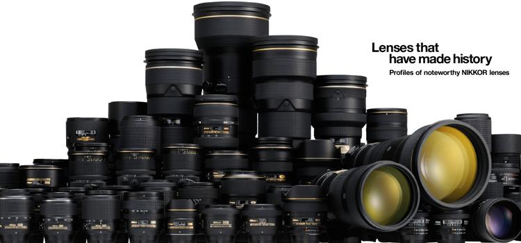 Nikon Lenses image taken from Nikon.com