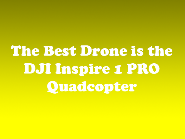 The Best Drone is the DJI Inspire 1 PRO Quadcopter